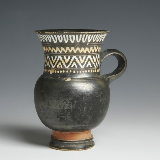 Greek South Italian Pottery Thistle Mug