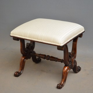William IV Rosewood Dressing Table Stool