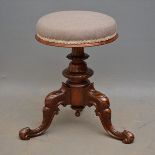 Victorian Walnut Piano Stool