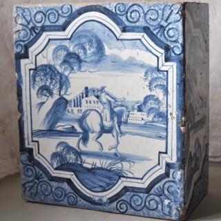 18th century Delftware Corner Stove Tile