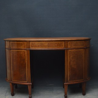 Edwardian Mahogany Kidney Shaped desk