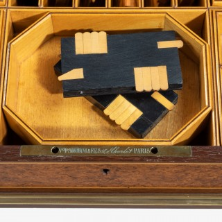 A fine brass-mounted purple-heart games box by the Sormani workshop