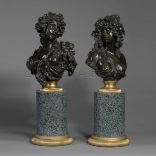 A Pair of Allegorical Busts of Summer and Autumn