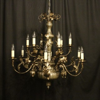 Italian Genoa 12 Light Antique Chandelier