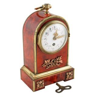 19th Century Tortoise Shell Table Clock