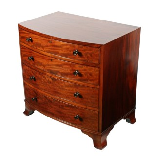 Heal's Mahogany Bow Front Chest