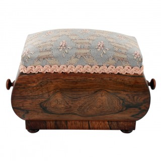 Georgian Rosewood Pin Cushion Box