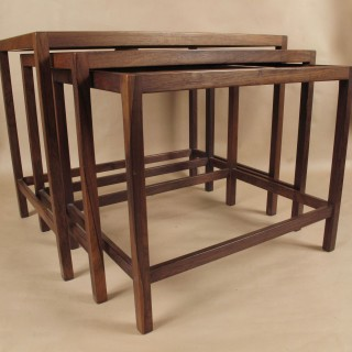 Scandinavian Nest of Rosewood Tables Circa 1960