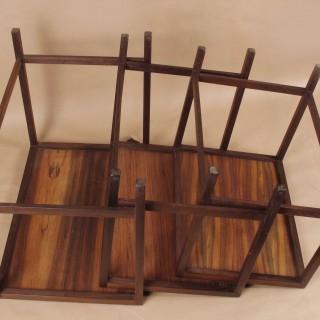 Scandinavian Nest of Rosewood Tables Circa 1960