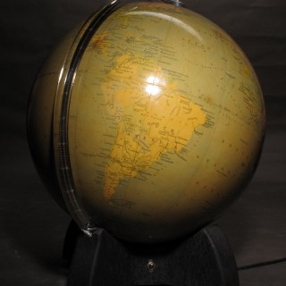An interesting and very decorative Globe, still with the original inside light