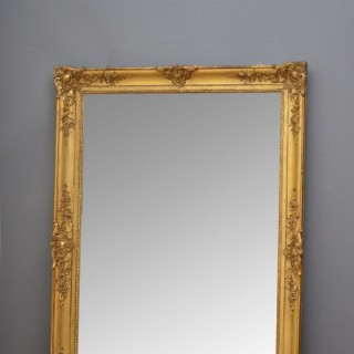 Large XIXth Century Overmantel or Floor Standing Mirror