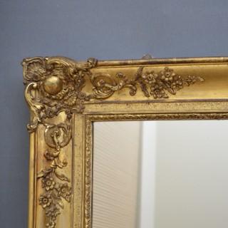 Large XIXth Century Overmantel or Floor Standing Mirror