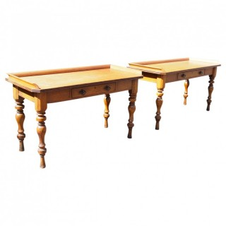 Pair of Victorian Oak Side Tables