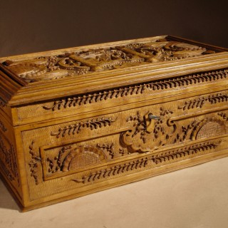 Chinese Very Fine Carved Wooden Box