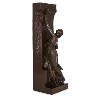 'La Jeunesse' 19th Century bronze sculpture by Chapu and Barbedienne