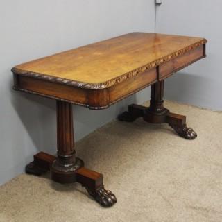 William IV Rosewood Library Table