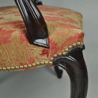 Hepplewhite Mahogany Salon Chair