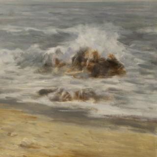 Italian seascape painting oil on canvas