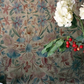 A Late 19thC English Floral Crewelwork Wall Hanging c.1890