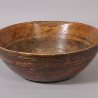 Antique Treen 19th Century Scandinavian Bowl