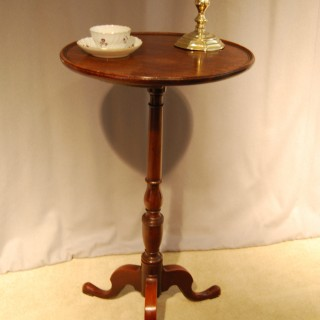 George III Mahogany Dish-topped tripod table