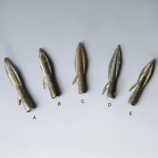 Ancient Greek Hellenistic Bronze Arrowheads