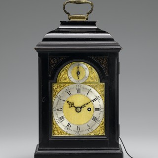 A very fine small George II silent pull quarter table timepiece