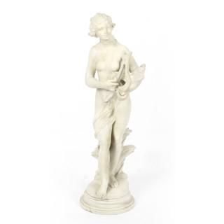 Antique Italian Marble Sculpture Terpsichore T.Dini 19th Century