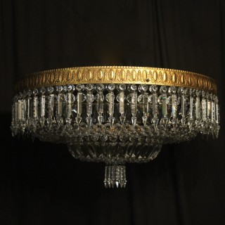French Gilded Bronze 12 Light Antique Plaffonier