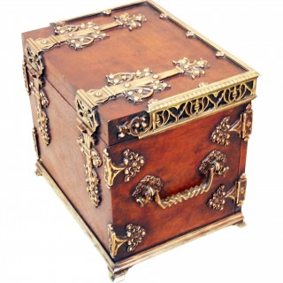 Antique 19th Century Cigar Humidor Box