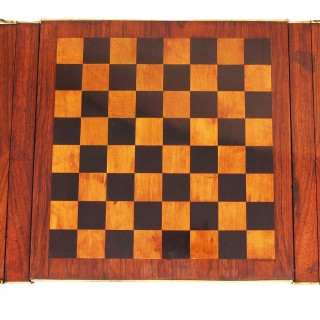 Antique Regency Reversible Top Rosewood Games Table