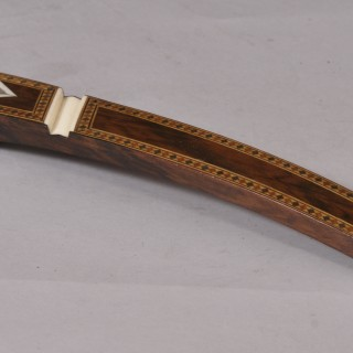 Antique Treen 19th Century Rosewood Knitting Sheath