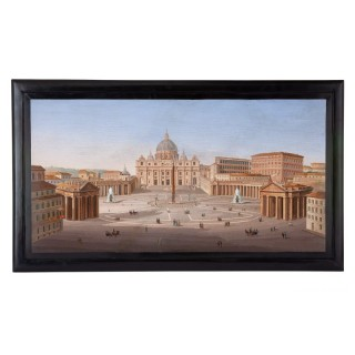 Monumental 19th Century Italian micromosaic of the Vatican