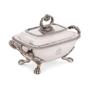 Set of four 19th Century English silver tureens
