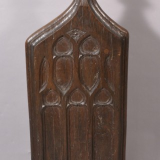 16th Century Tudor Oak Pew End from St. Mary's Church in Croscombe Somerset