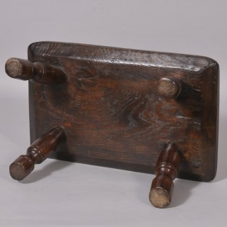 Antique 19th Century Elm Stool