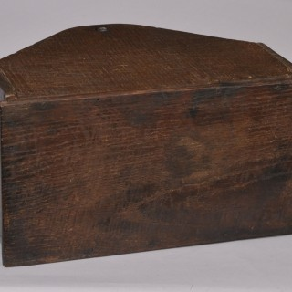 Antique 18th Century Oak Candle or Cutlery Box