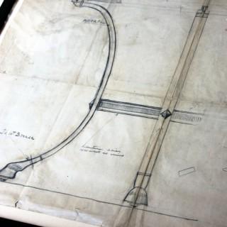 A Large Framed Archival Design For A Table; Maison Paul Fargette & Maison Charles; No.76; c.1960-70