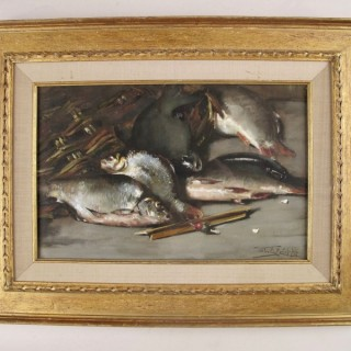 Crayon Still Life WILLEM E.ROELOFS jr. '03 Coarse Fish with Float