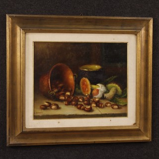 Italian signed still life painting