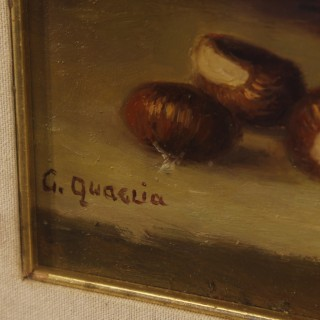 Italian signed still life painting