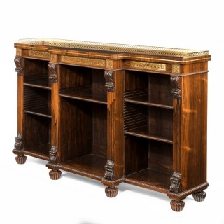 Breakfront open bookcase attributed to Gillows