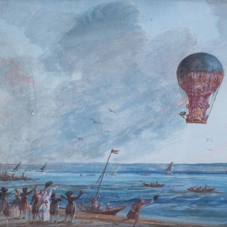 Aero Montgolfiere piloted by Rozier and Romain, the first attempted crossing of the English Channel.