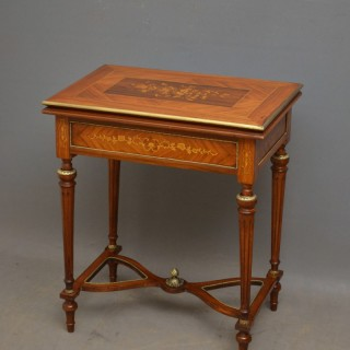 Very Decorative Walnut Card Table
