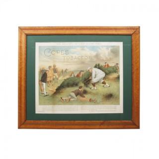 Cope's Tobacco Golfing Print