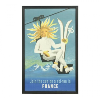 Ski Poster by Jaques Dubois