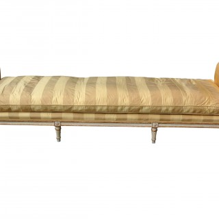 19th Century Painted And Gilt Day Bed