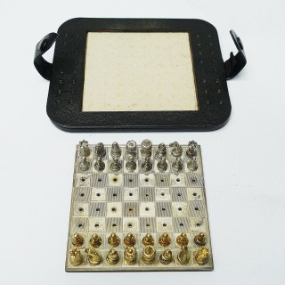 Silver Travelling Chess Set