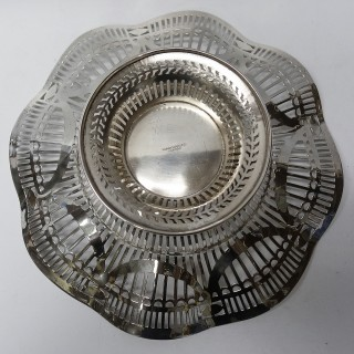 Antique Silver Dish Made by ALEXANDER CLARK & CO