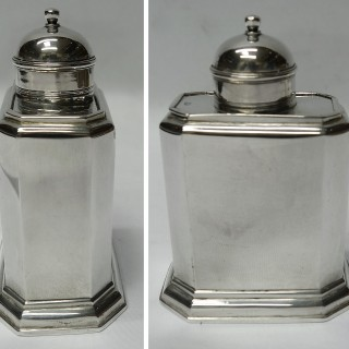 George I Silver Tea Caddies with Sliding Tops